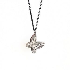 Pave Diamond Butterfly on Chain