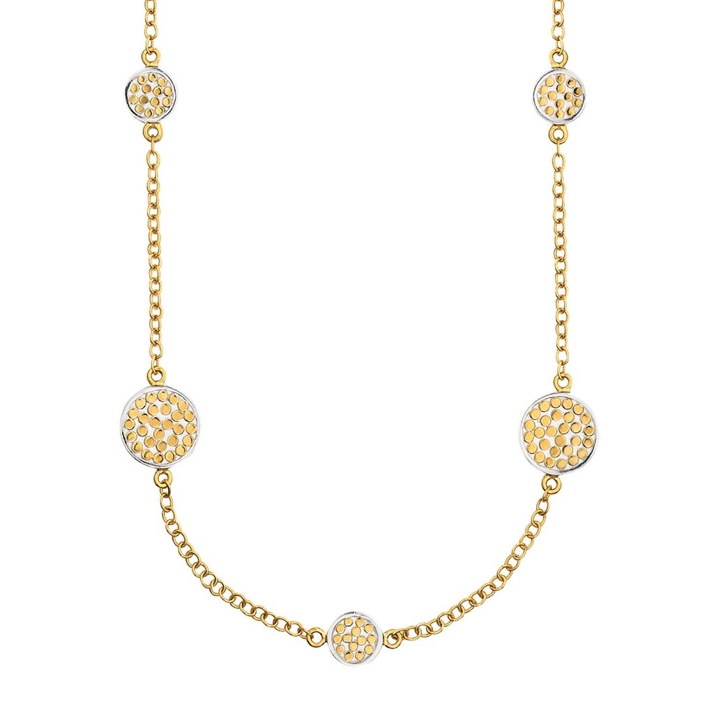 Bali Multi Disk Gold Necklace