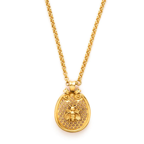 Bee Pendant Gold 36 Inches-Julie Vos-Anna Cate Fine Fashion Jewelry