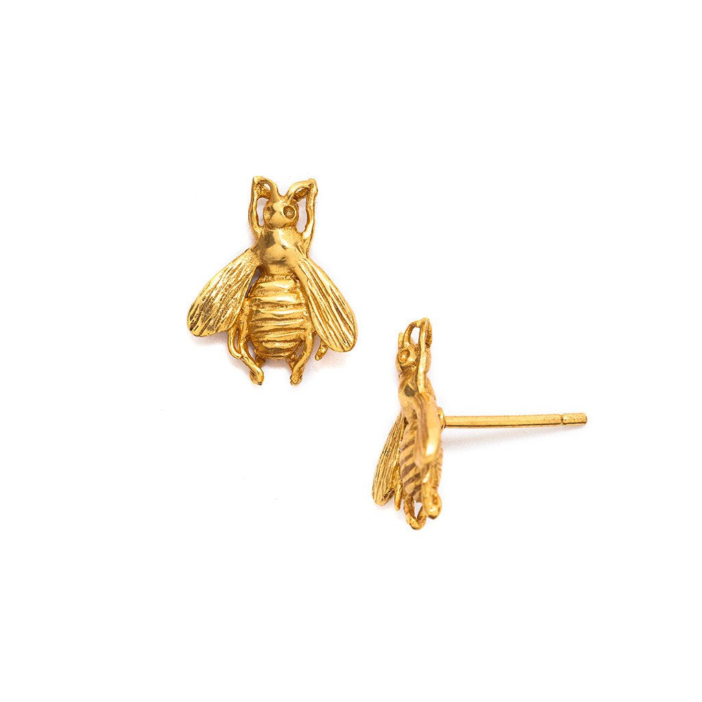 Bee Stud Gold-Julie Vos-Anna Cate Fine Fashion Jewelry