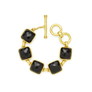 Catalina Stone Bracelet Gold Black Onyx-Julie Vos-Anna Cate Fine Fashion Jewelry