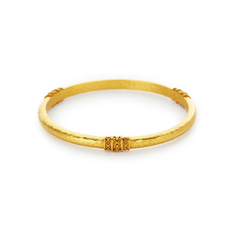 Catalina Bangle Gold Medium-Julie Vos-Anna Cate Fine Fashion Jewelry