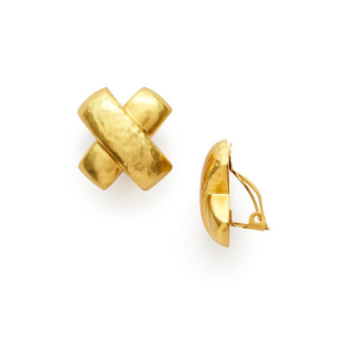 Catalina X Clip-On Gold-Julie Vos-Anna Cate Fine Fashion Jewelry