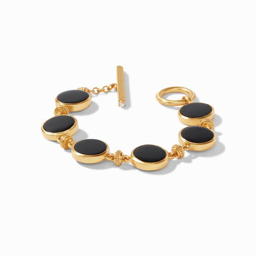 Coin Double Sided Bracelet Black Onyx