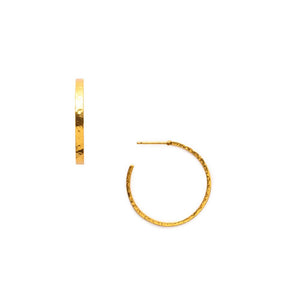 Crescent Hoop Gold Medium-Julie Vos-Anna Cate Fine Fashion Jewelry
