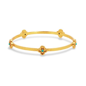 Daphne Bangle Gold Turquoise- Medium