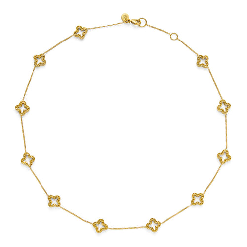 Florentine Delicate Necklace Gold 17.5 - 18.5inches-Julie Vos-Anna Cate Fine Fashion Jewelry