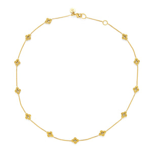 Florentine Demi-Delicate Necklace Gold 16-17inches-Julie Vos-Anna Cate Fine Fashion Jewelry