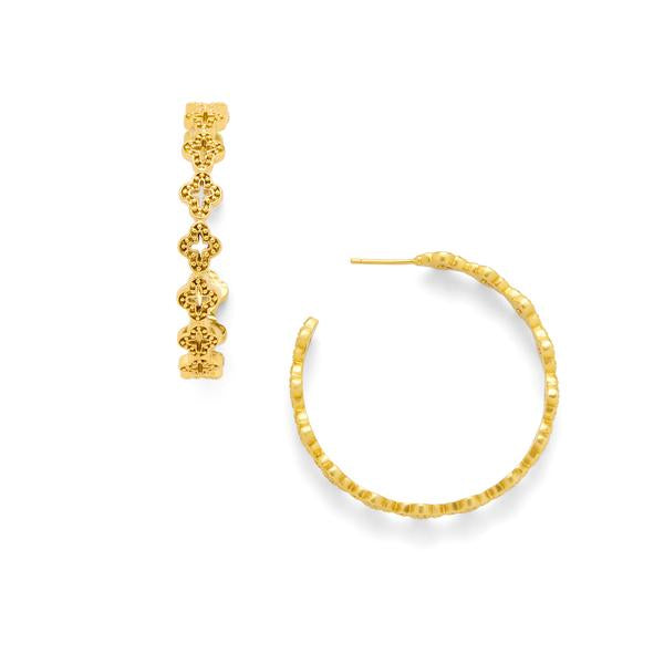 Florentine Hoop Gold Large-Julie Vos-Anna Cate Fine Fashion Jewelry