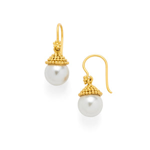 Florentine Pearl Earring Gold-Julie Vos-Anna Cate Fine Fashion Jewelry