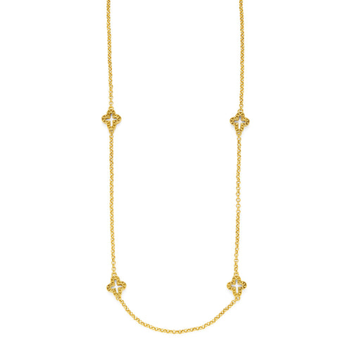 Florentine Station Necklace Gold 38 inches-Julie Vos-Anna Cate Fine Fashion Jewelry