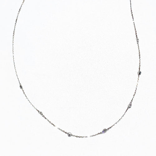 7 station Diamond Necklace