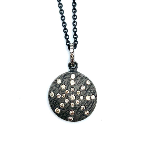 Galaxy Diamond Round Pendant on Chain