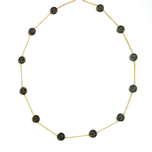 Valencia Delicate Station Necklace Mixed Metal