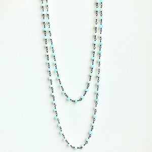 "35"" Beaded Opal Necklace"
