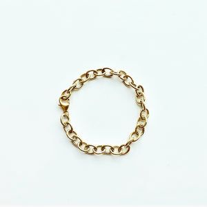 Gold Overlay Chain Link Braclet