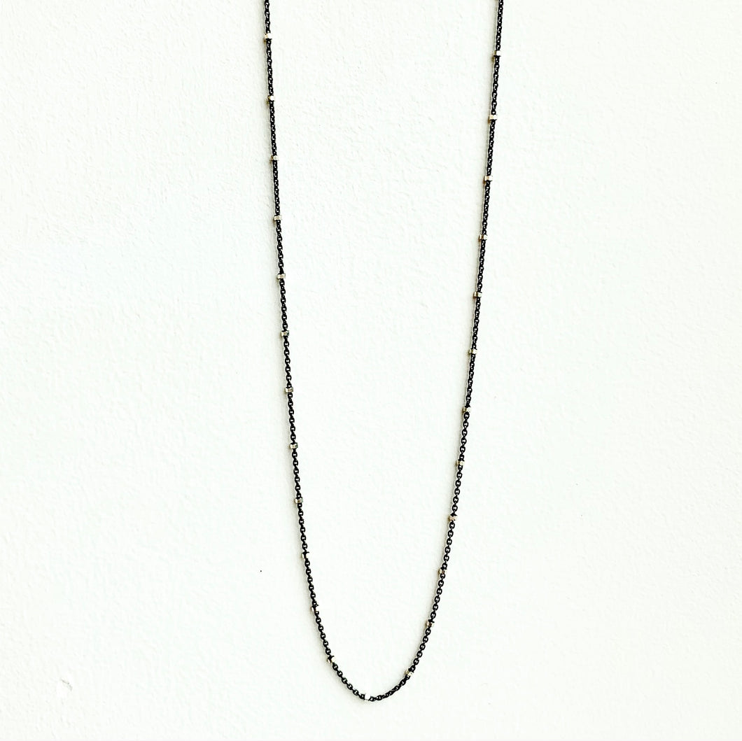 Sterling Silver Cable Chain with Diamond Cut Beads