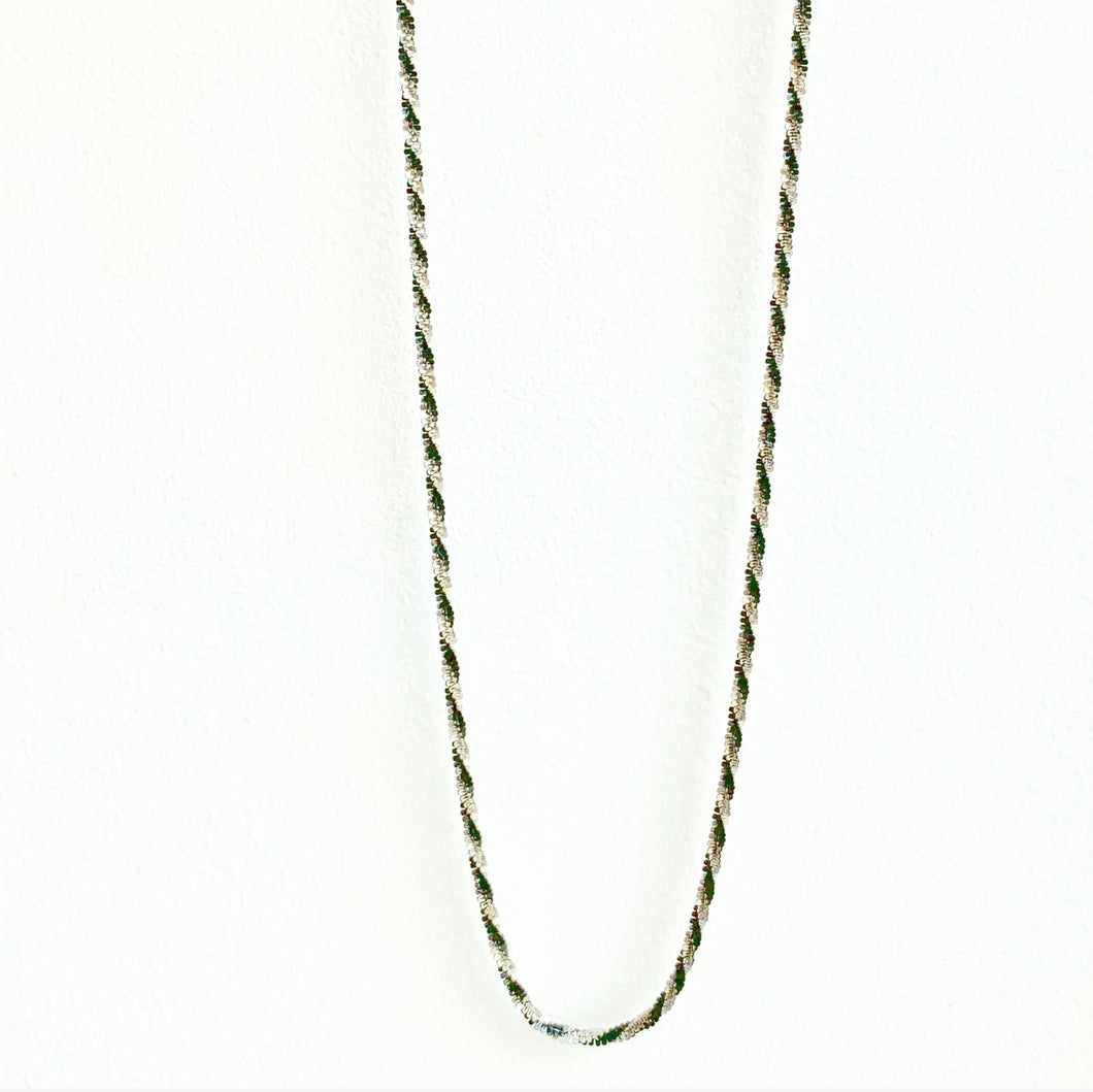 Sterling Silver Rock Chain Black and White
