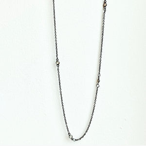 Black Rhodium Diamonds by the Yard Chain