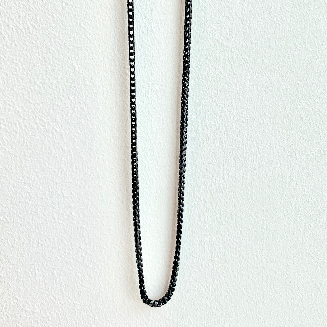 Sterling Silver Forzata Chain with Black Rhodium Overlay