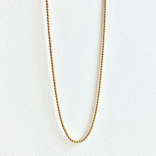 Gold Beaded Chain 18