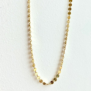 "18"" Gold Circle Chain Necklace"