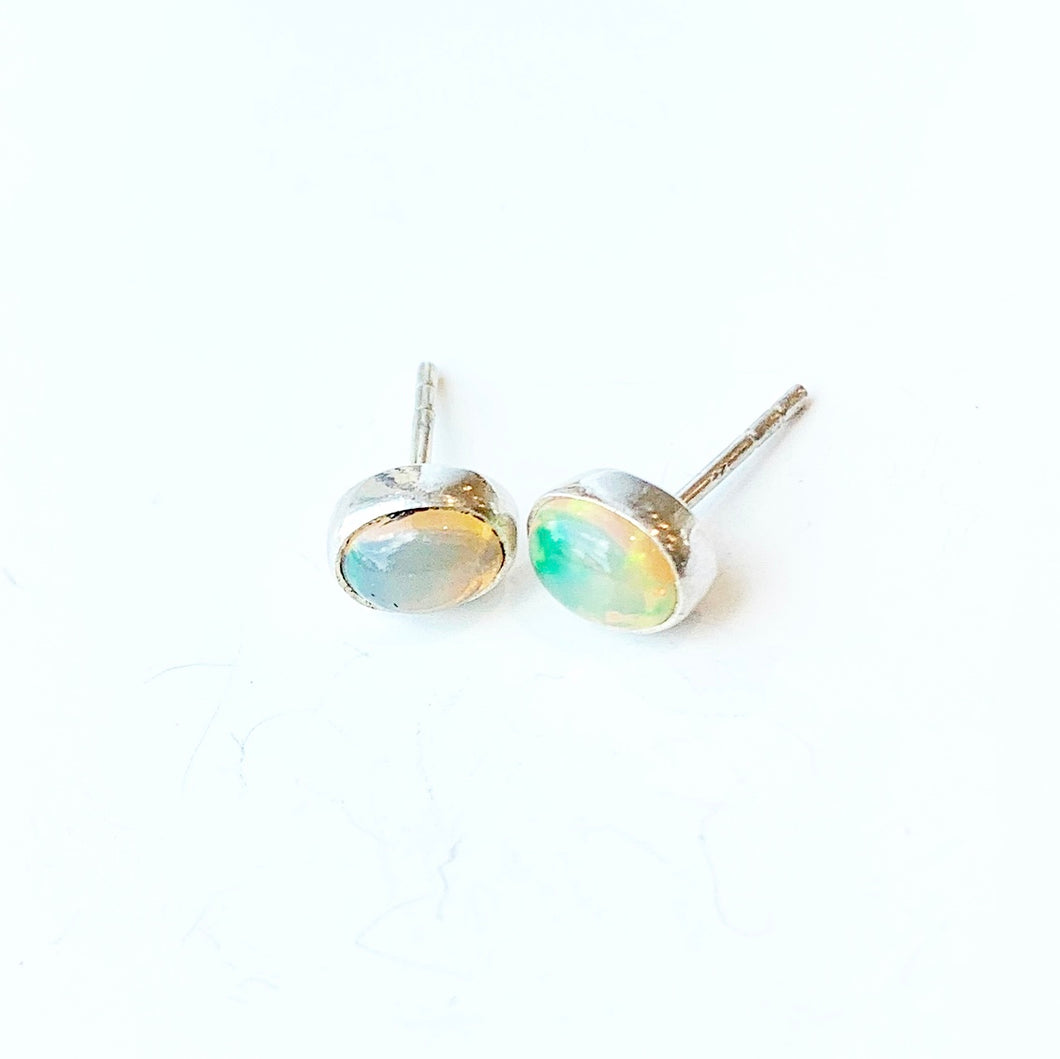 Opal Stud Earrings SS