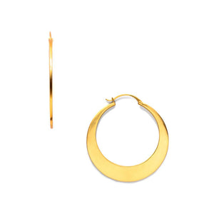 Luna Hoop Gold Large-Julie Vos-Anna Cate Fine Fashion Jewelry