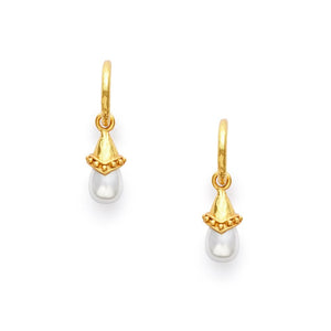 Medici Hoop Drop Gold Shell Pearl-Julie Vos-Anna Cate Fine Fashion Jewelry