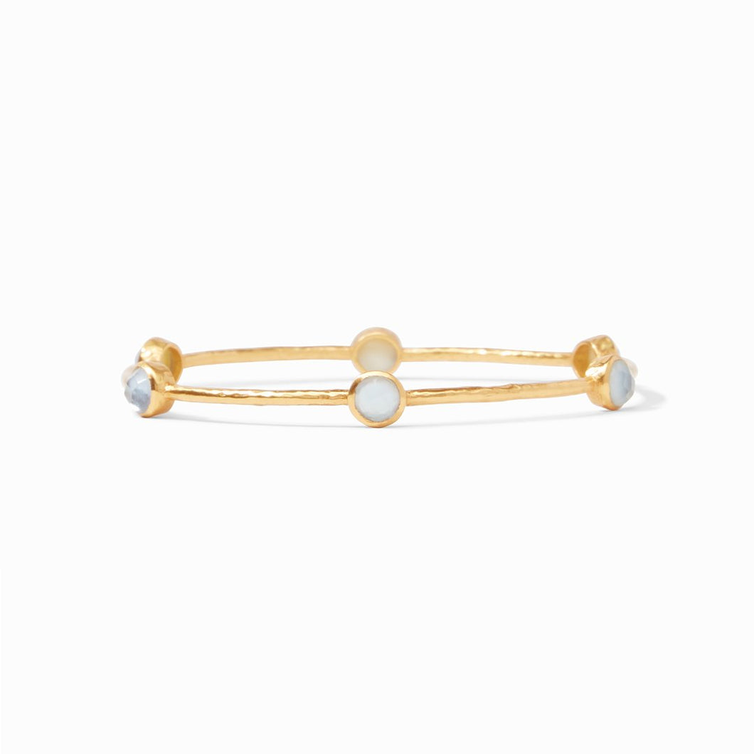 Milano Luxe Bangle Gold Iridescent Chalcedony Blue
