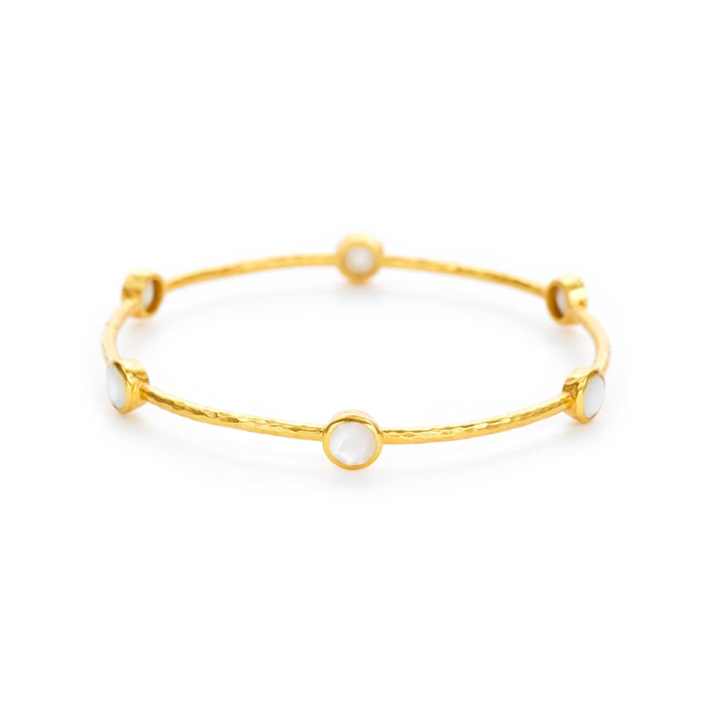 Milano Bangle Gold Mother of Pearl Medium