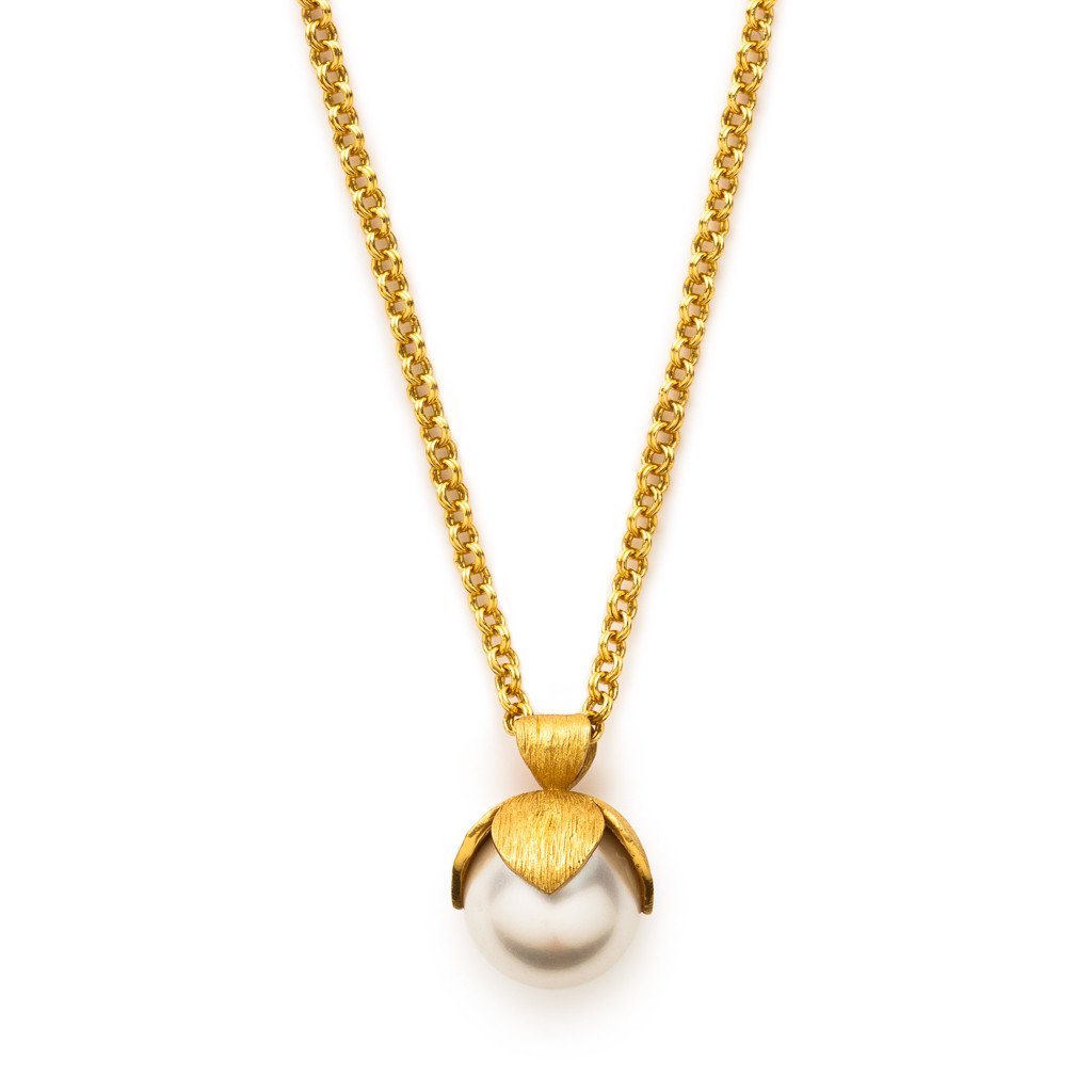 Penelope Pendant Gold Pearl-Julie Vos-Anna Cate Fine Fashion Jewelry