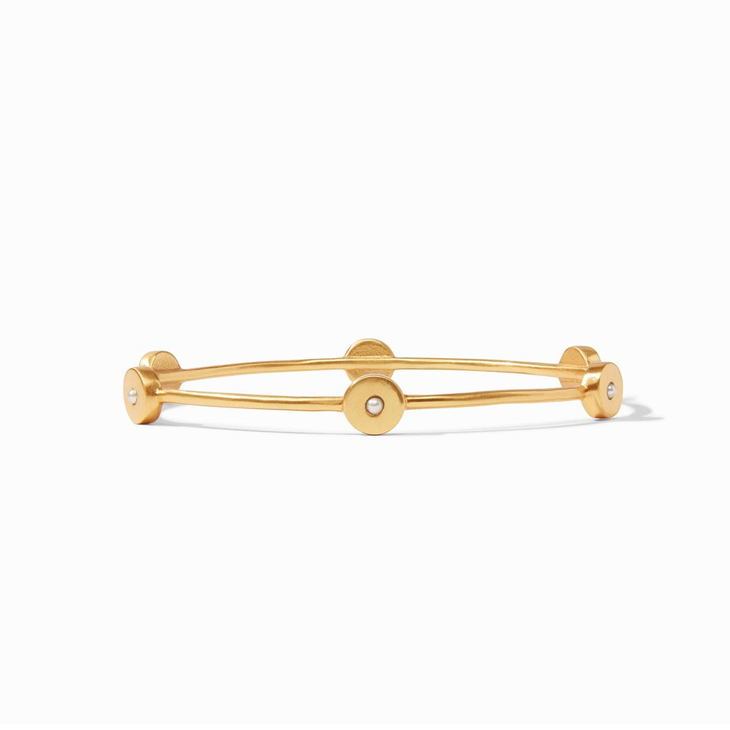 Poppy Bangle Gold Pearl