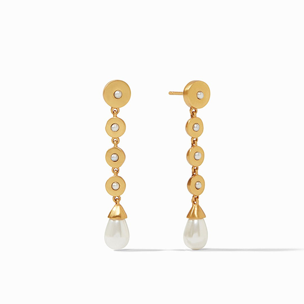 Poppy Statement Earring Gold Pearl
