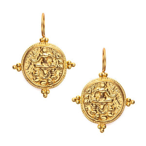 Quatro Coin Earring Gold-Julie Vos-Anna Cate Fine Fashion Jewelry