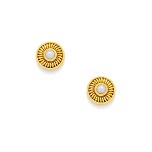 Sofia Stud Gold Fresh Water Pearl
