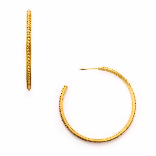 Siena Hoop Gold Extra Large-Julie Vos-Anna Cate Fine Fashion Jewelry