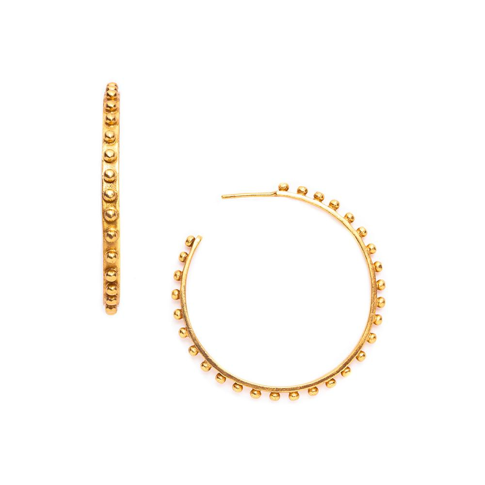 SoHo Hoop Gold Large-Julie Vos-Anna Cate Fine Fashion Jewelry