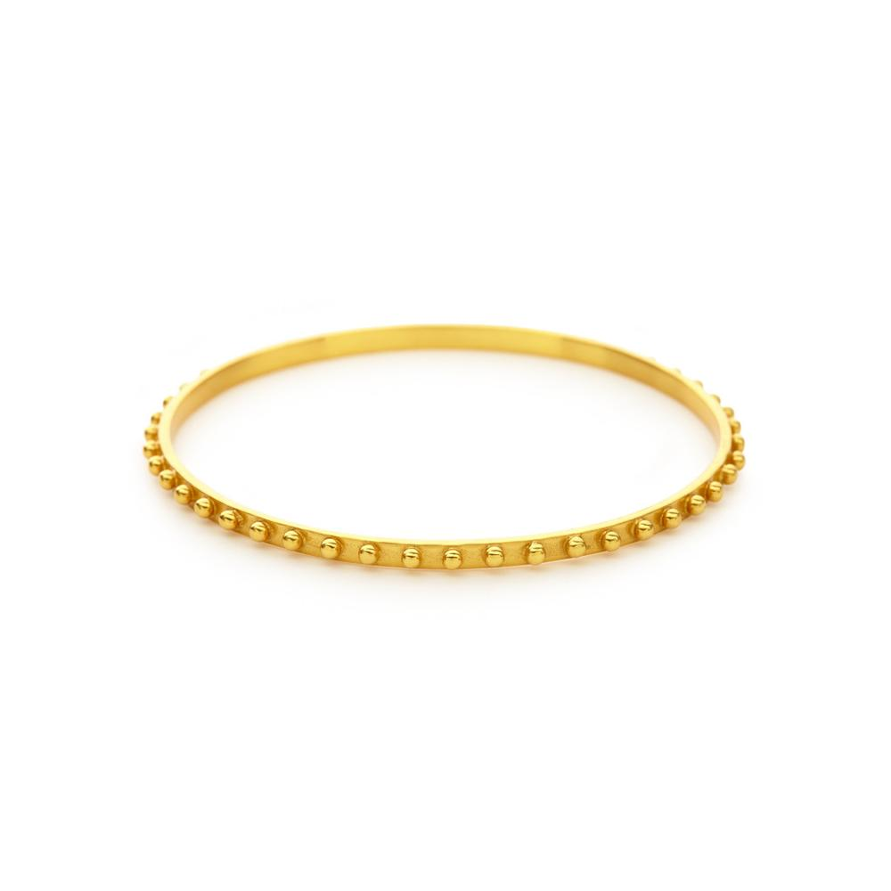 Soho Bangle Gold Medium-Julie Vos-Anna Cate Fine Fashion Jewelry
