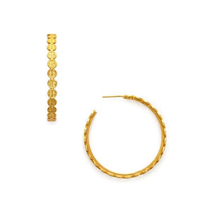 Valencia Hoop Gold Large-Julie Vos-Anna Cate Fine Fashion Jewelry