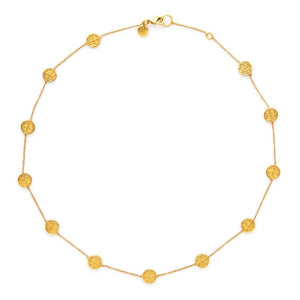 Valencia Delicate Station Necklace Gold-Julie Vos-Anna Cate Fine Fashion Jewelry