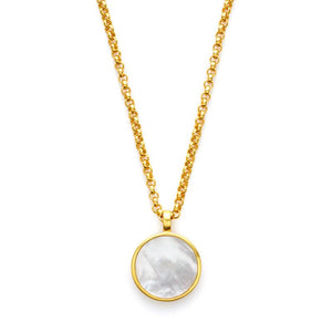 Valencia Pendant Gold Mother of Pearl-Julie Vos-Anna Cate Fine Fashion Jewelry