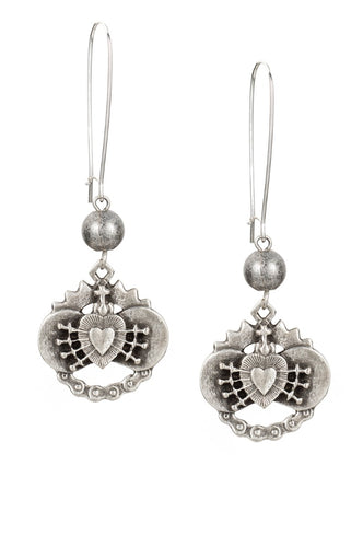 Immaculate Heart Pendant Earrings