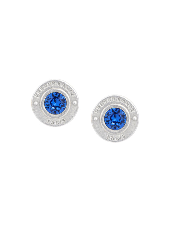 Sterling Silver Plated Birthstone Annecy Earrings