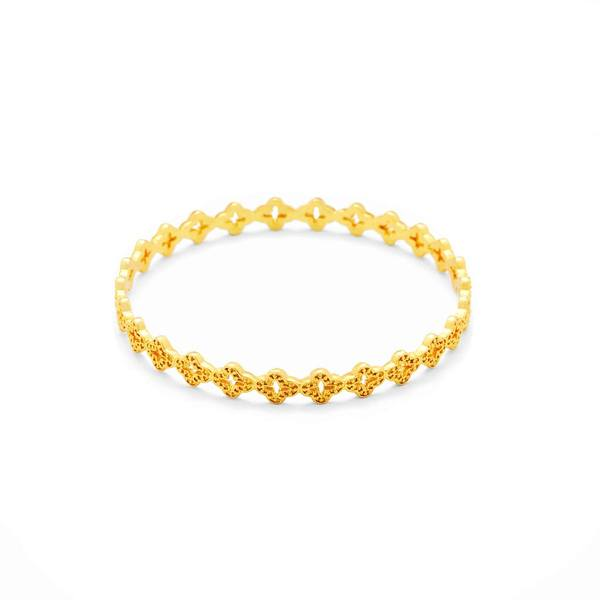 Florentine Stacking Bangle Gold Medium-Julie Vos-Anna Cate Fine Fashion Jewelry
