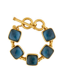 Catalina Bracelet Gold Azure Blue