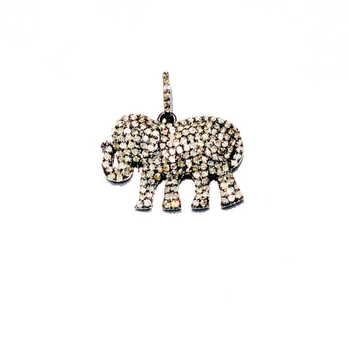Pave Diamond Elephant Enhancer