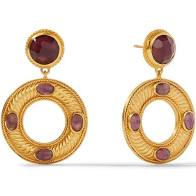 Olympia Statement Earrings Gold Bordeaux