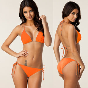 Iris Classical Bikini Set (Orange)
