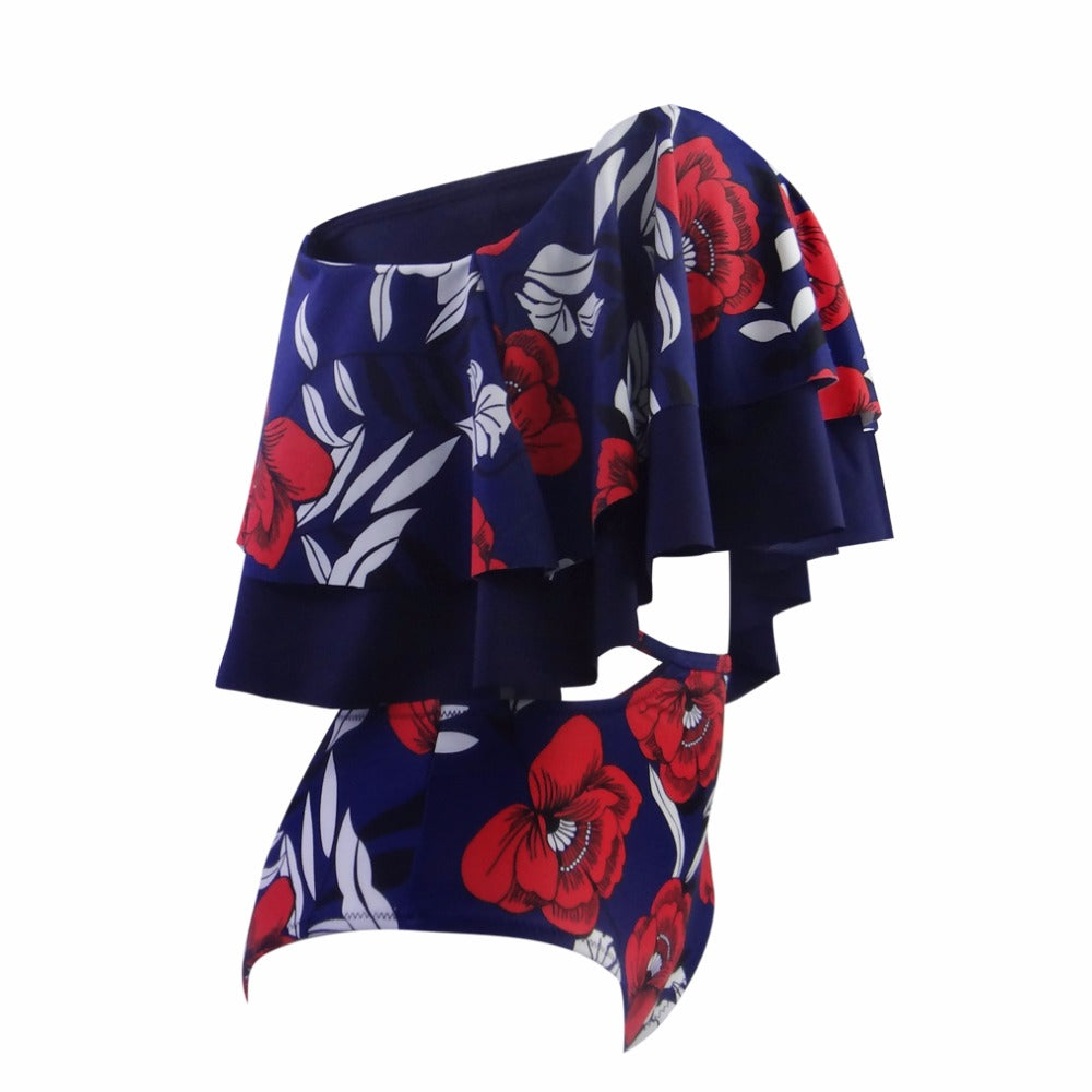 Kenia Floral  Off Shoulder Swimsuit